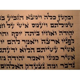 Big Handmade Mezuzah Scroll Adhaz Special