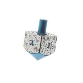 Blue Classic Silver Aluminum Israel Hanukkah Dreidel