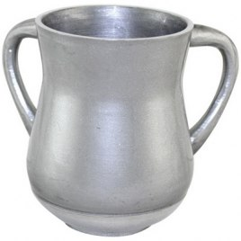 Brushed Silver Aluminum Elegant Washing Cup