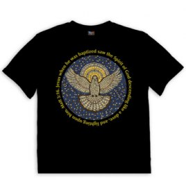 Christian T Shirt Dove Mosaic