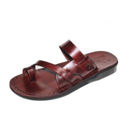 Classic Toe Stripe Flip Flop Handmade Leather Sandals - Tomer