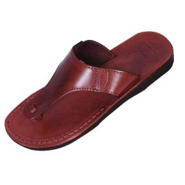 Classic Y-Strap Slip-on Leather Biblical Sandals - Ephraim