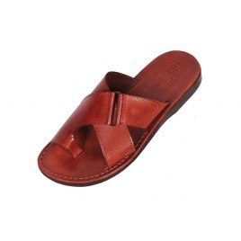 Comfortable wide Strap Slip-on Leather Sandals - Jacob