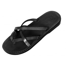 Criss-Cross Biblical Handmade Leather Flip-Flop Sandal - Carmel