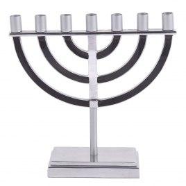 Emanuel Judaica Black Seven Branched Menorah