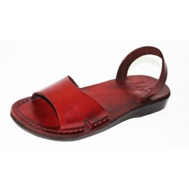 Handmade Leather Sandals Wide Strap Narrow Ancle Strap - Gideon