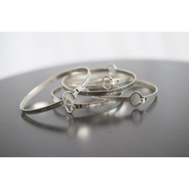 Sterling Silver Jewish Blessing Bangle Bracelet
