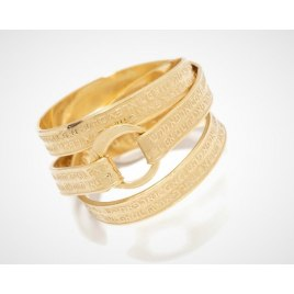 Jewish Ring With 72 Names Of God Embossed Gold Plated Design