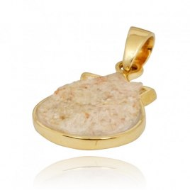 14K Gold and Jerusalem Stone Pomegranate Pendant