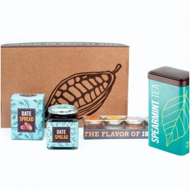 Taste of Israel Gift Box Date Syrups Spreads and Spearmint Tea