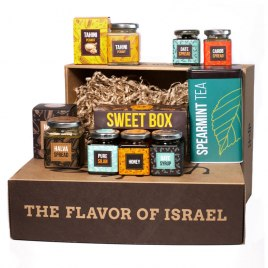 Taste of Israel Gift Box with Halva Spread Sweet Box Date Spread