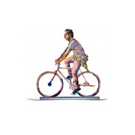 David Gerstein Sculpture City Biker