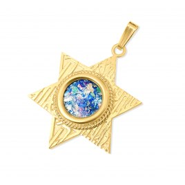 14K Gold Star of David with Shema Yisrael Pendant